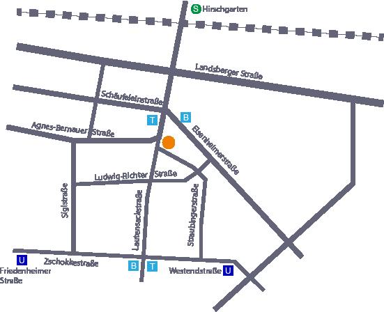 Belcanto Studio - Lageplan